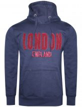 Embroidered Hoodie Navy